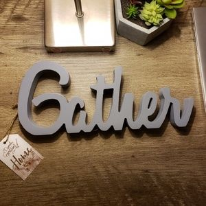 Other - Wooden 'Gather' Word Plaque